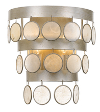 Crystorama 6002-SA - Coco 2 Light Antique Silver Sconce