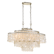 Crystorama BRI-3009-SA - Brielle 6 Light Antique Silver Linear Chandelier