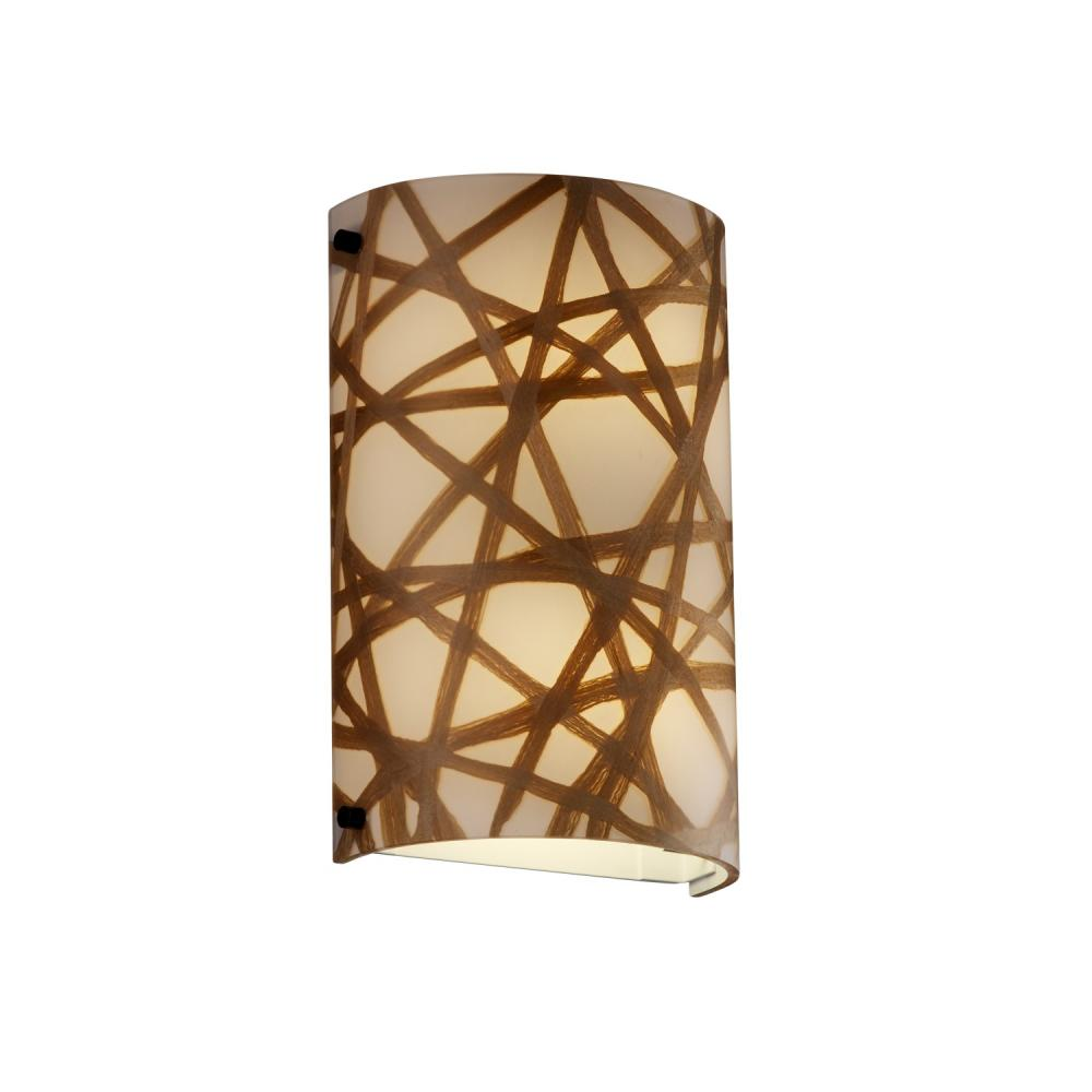 Finials Cylinder Wall Sconce Ada 3frm 5541 Conn Crom Denney