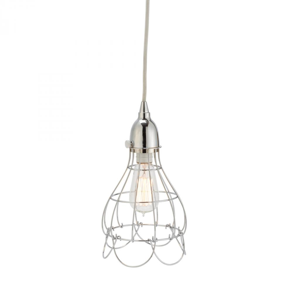 Silver Wire 1 Light Rose Pendant 225041 Denney Lighting Design Wiring A New Fixture Uk
