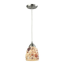 ELK Lighting 10412/1 - Shells 1 Light Pendant In Satin Nickel