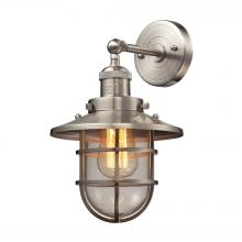 ELK Lighting 66356/1 - Seaport 1-Light Wall Lamp in Satin Nickel with Clear Glass